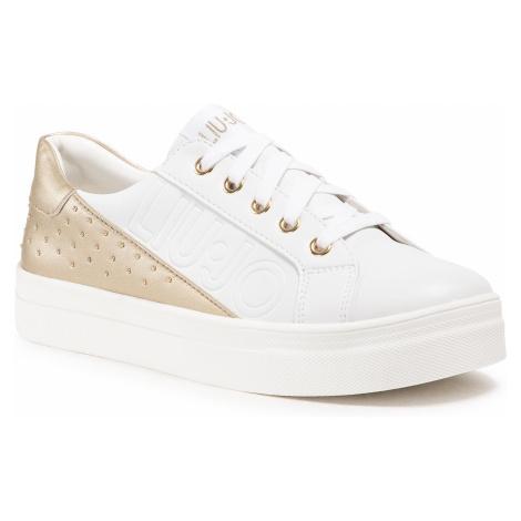 Sneakersy LIU JO - Alicia 31 4A1707 EX014 D White/Gold 03D05
