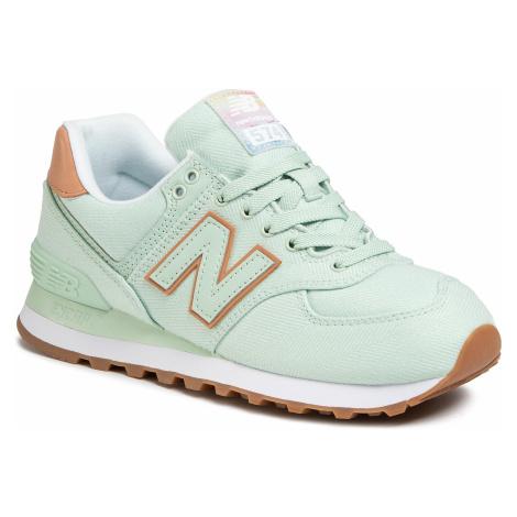 Sneakersy NEW BALANCE - WL574SCD Zielony