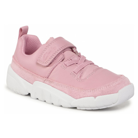 Sneakersy CLARKS - Tri Craft K 261535876 Pink Leather
