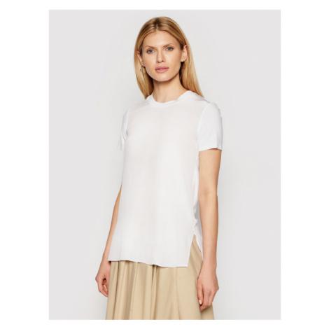 Max Mara Leisure T-Shirt Posato 39710216 Biały Regular Fit