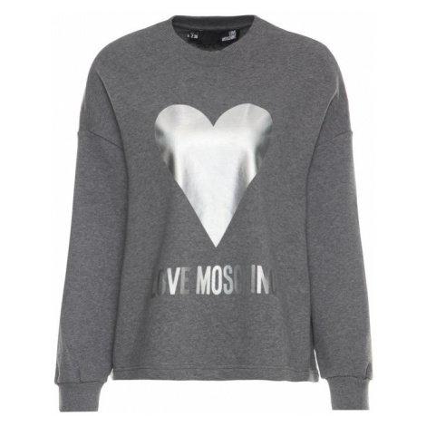 LOVE MOSCHINO Bluza W635504M 4068 Szary Loose Fit