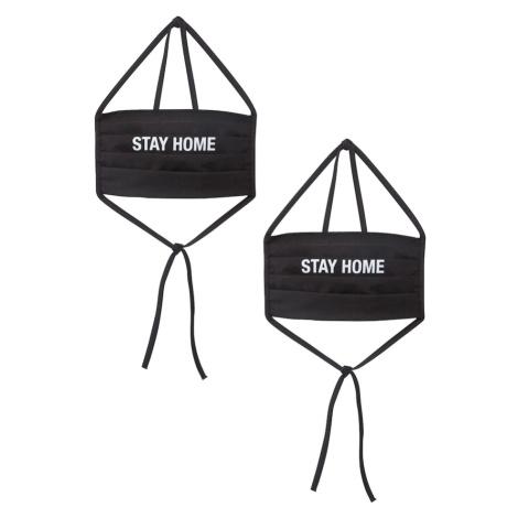 Mister Tee Maska z materiału 'Stay Home' czarny