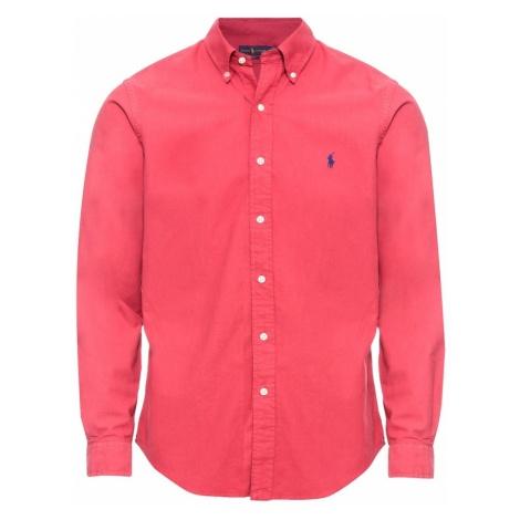 POLO RALPH LAUREN Koszula 'SL BD PPCSPT-LONG SLEEVE-SPORT SHIRT' czerwony