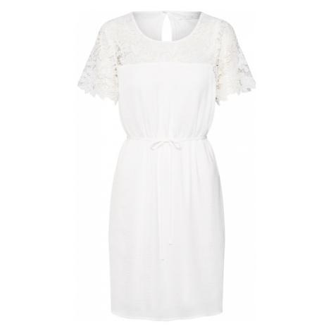VILA Sukienka koktajlowa 'VIMELLI BLOCKED LACE DRESS' biały