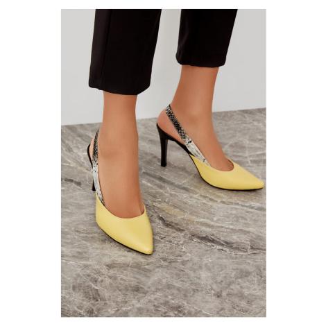 Trendyol Yellow Women's Wedge-Heeled Shoes