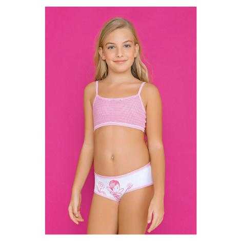 Dziewczęcy komplet: figi i top Fairy Pink Jadea