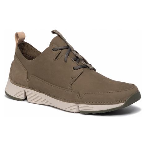 Sneakersy CLARKS - Tri Solar 261464687 Olive Nubuck