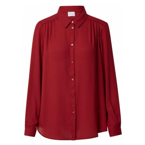 VILA Bluzka wiśniowo-czerwony