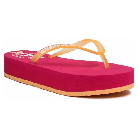 Japonki TOMMY JEANS - Pop Color Mid Beach Sandal EN0EN00853 Blush Red XIF Tommy Hilfiger