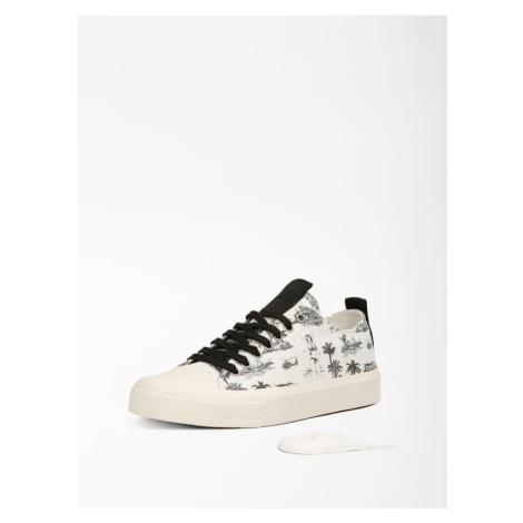 Sneakersy W Morski Print Model Ederla Guess
