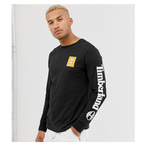 Timberland exclusive long sleeve arm logo t-shirt in black