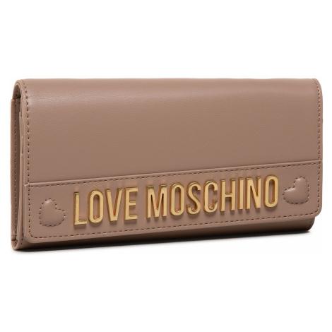 Duży Portfel Damski LOVE MOSCHINO - JC5645PP0BKN0209 Taupe