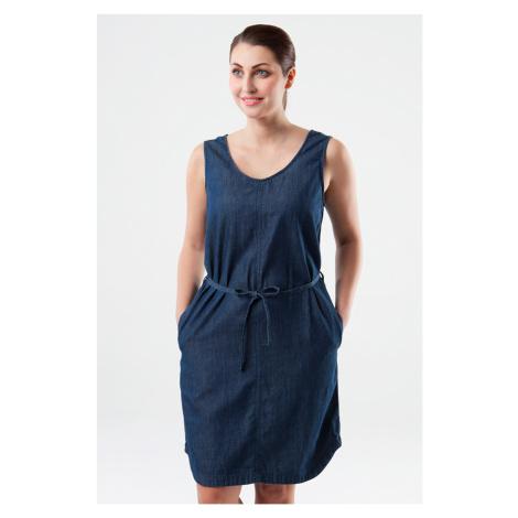 Niebieskie sukienki bez rękawów