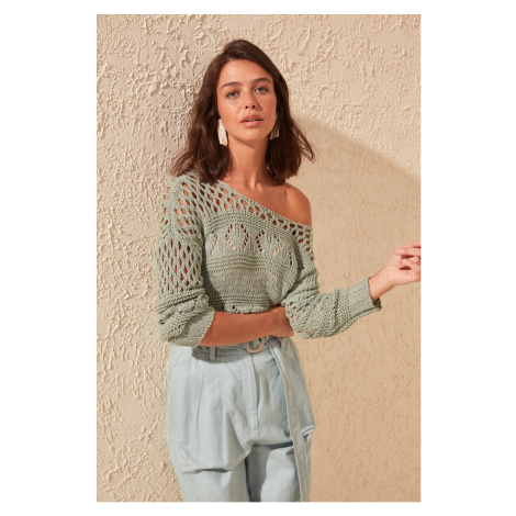Trendyol Green Shutter Knitwear Sweater