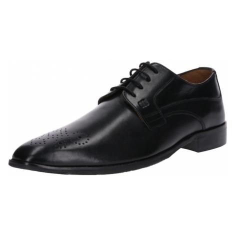 Gordon & Bros Buty sznurowane 'Lorenzo' czarny