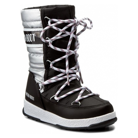 Śniegowce MOON BOOT - Quilted Jr Met Wp 34051400002 Nero-Arge/Black/Silver