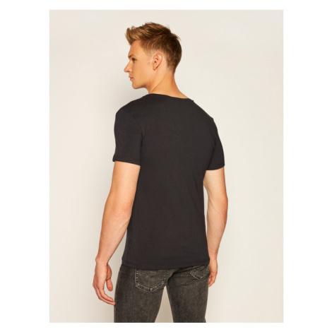 Guess T-Shirt U97M01 JR003 Czarny Slim Fit