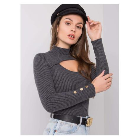 Ladies´ dark gray turtleneck blouse