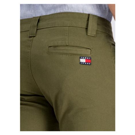 Tommy Jeans Spodnie materiałowe DM0DM06518 Zielony Slim Fit Tommy Hilfiger