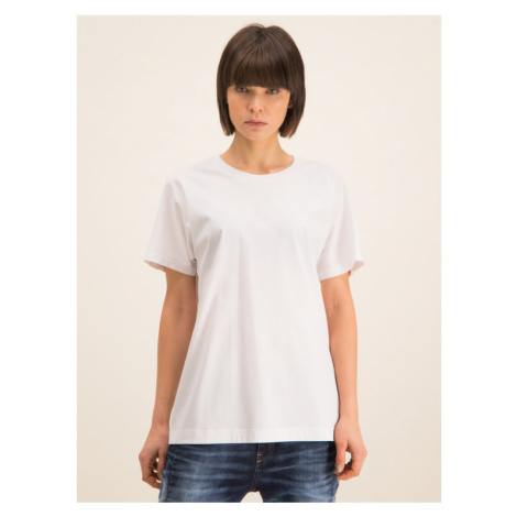 Diesel T-Shirt Kyr 00S75A 0QANW Biały Regular Fit