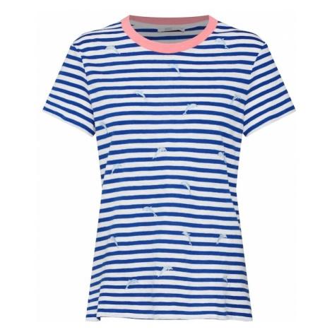 EDC BY ESPRIT Koszulka niebieski / stary róż / biały