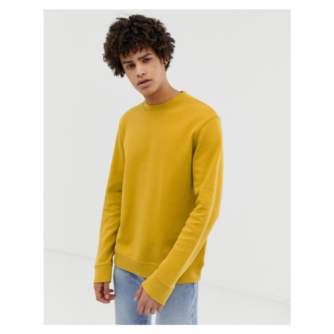 Selected Homme sweatshirt with raised neck in pique jersey