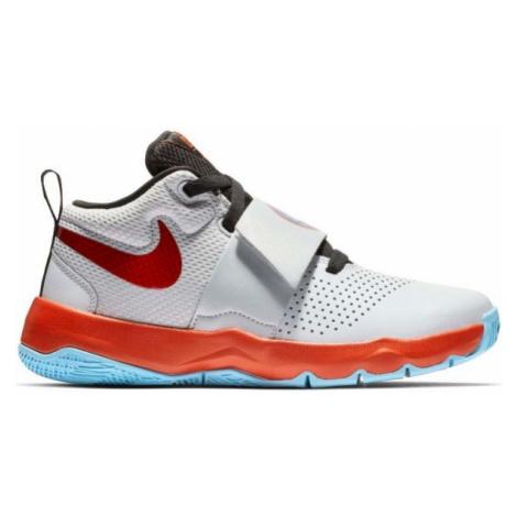 Nike TEAM HUSTLE D 8 SD szary 5Y - Obuwie koszykarskie dziecięce