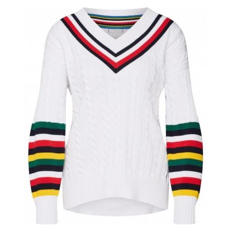TOMMY HILFIGER Sweter oversize 'Janah' mieszane kolory / biały