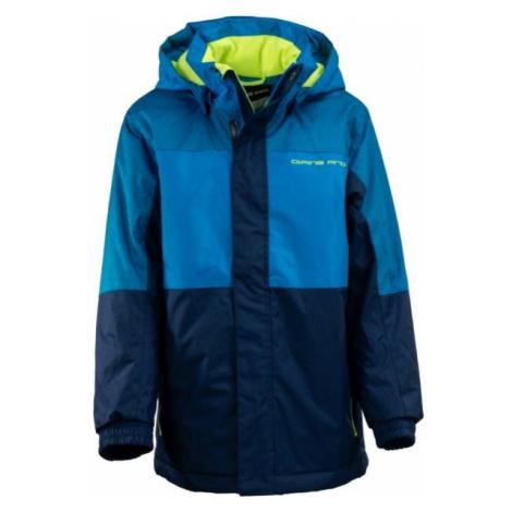 ALPINE PRO FINKO 2 niebieski 128-134 - Kurtka narciarska dziecięca