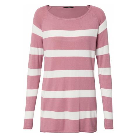 ONLY Sweter 'SELENA' biały / różany