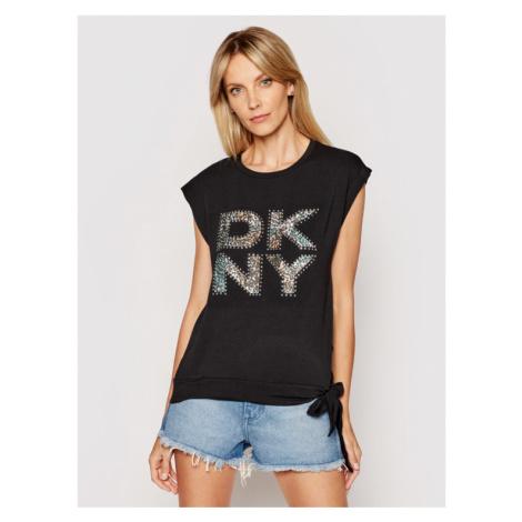 DKNY T-Shirt P1AUJINX Czarny Regular Fit