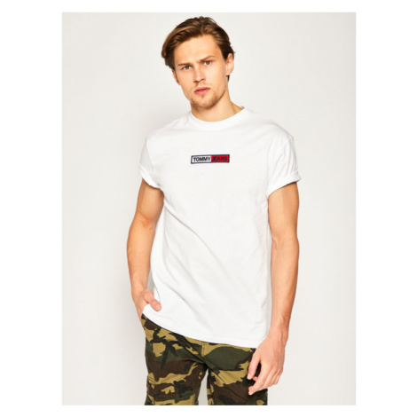 Tommy Jeans T-Shirt Tjm Embroidered Box Logo DM0DM07868 Biały Regular Fit Tommy Hilfiger