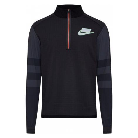 NIKE Bluzka sportowa niebieski / czarny / biały