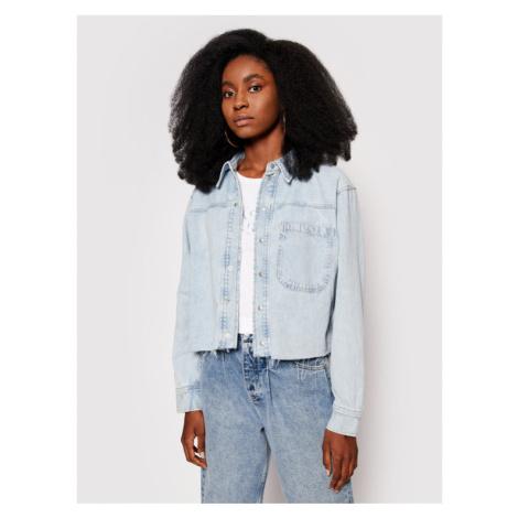 Calvin Klein Jeans Kurtka jeansowa J20J215908 Niebieski Relaxed Fit