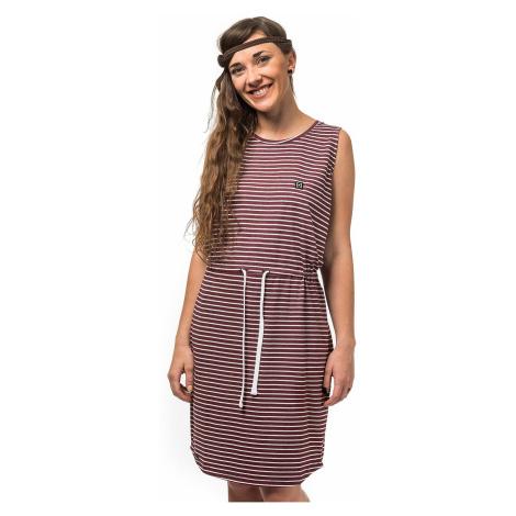 sukienka Horsefeathers Anita - Burgundy Stripes