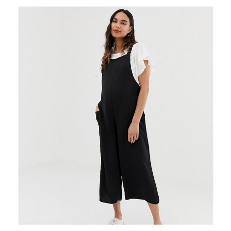 New Look Maternity dungaree jumpsuit in black