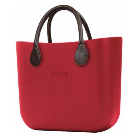 O bag torebka MINI Rosso z krótkimi brązowymi uchwytami ze skajki
