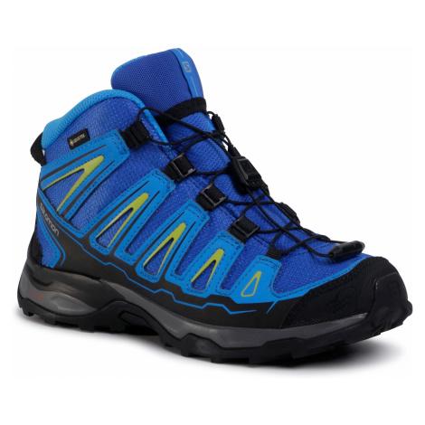 Trekkingi SALOMON - X-Ultra Mid Gtx J GORE-TEX 390294 12 W0 Blue Yonder/Bright Blue/Granny Green