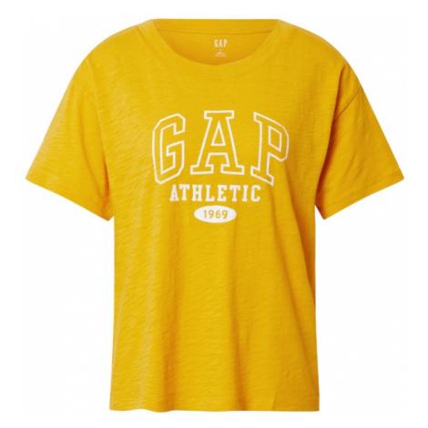 GAP Koszulka 'Easy Athletic' biały / żółty