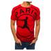 Czerwony T-shirt męski RX4425 z nadrukiem
