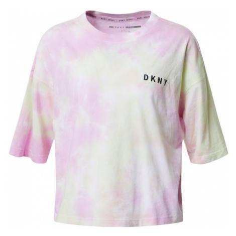 DKNY Performance Koszulka 'MULTI TIE DYE' miętowy / różowy pudrowy