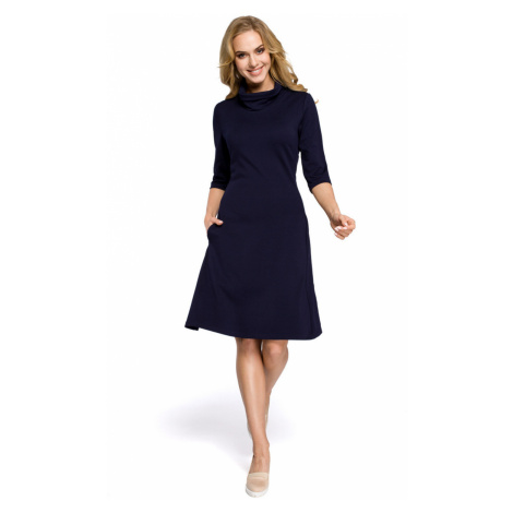 Made Of Emotion Woman's Dress M279 Navy Blue