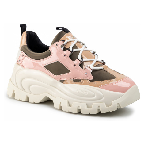 Sneakersy LIU JO - Wave 01 BA0023 PX059 Olive/Pink S1306