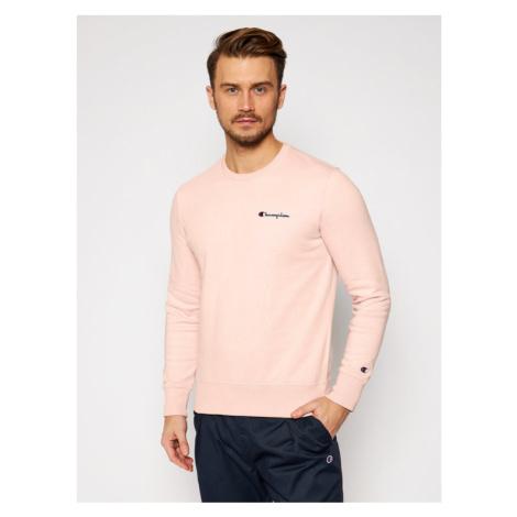 Champion Bluza Small Script Logo 214781 Różowy Comfort Fit