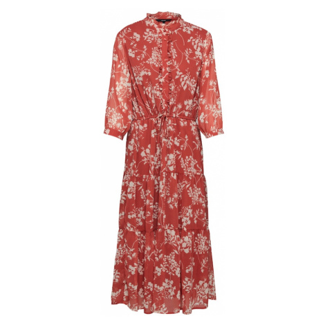 VERO MODA Sukienka czerwony / biały