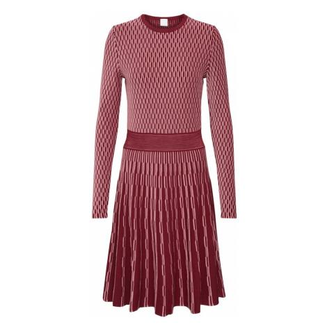 BOSS Sukienka z dzianiny 'Illoran' czerwony Hugo Boss