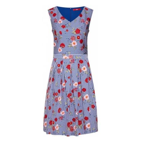 S.Oliver Sukienka niebieski / mieszane kolory