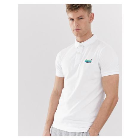 Superdry classic logo pique polo shirt