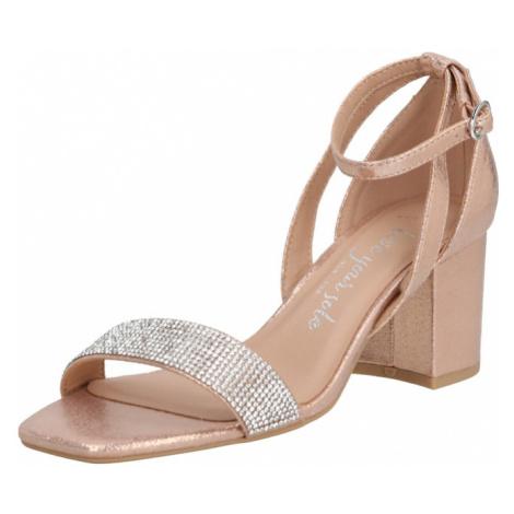 NEW LOOK Sandały 'TIBBY' złoty / beżowy / różowy pudrowy