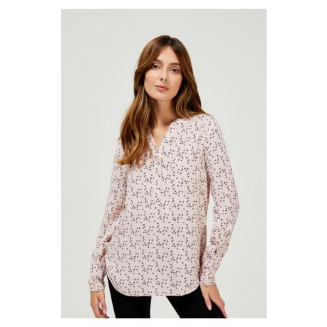 Moodo pudrowa koszula z delikatnym wzorem